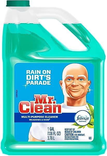 Mr Clean Meadows 雨水多面清洁剂,带纺必适 128 液体盎司 1
