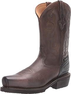حذاء عمل برقبة طويلة رجالي ذو خياطة غربية مقاس 30.48 سم: هيكل معدني متوسط بمقدمة مربعة