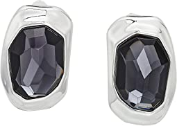 Robert Lee Morris - Black Diamond and Silver Clip Earrings