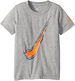 Nike Kids Water Brush Swoosh Cotton Tee (Toddler)