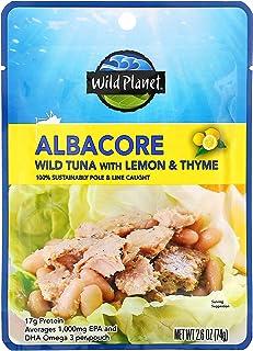 Wild Planet, Albacore Wild Tuna with Lemon & Thyme, 2.6 oz (74 g)