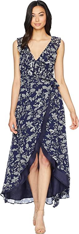 RSVP Kelli Ruffle Neck Printed Dress