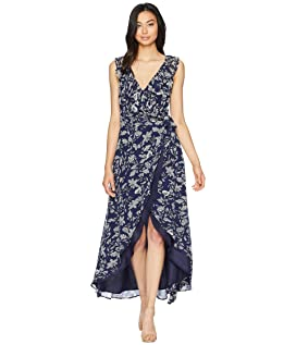 RSVP Kelli Ruffle Neck Printed Dress