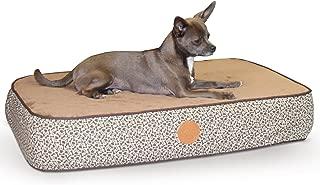 K&H Pet Products Superior Orthopedic Pet Bed Small Mocha Paw/Bone Print 20