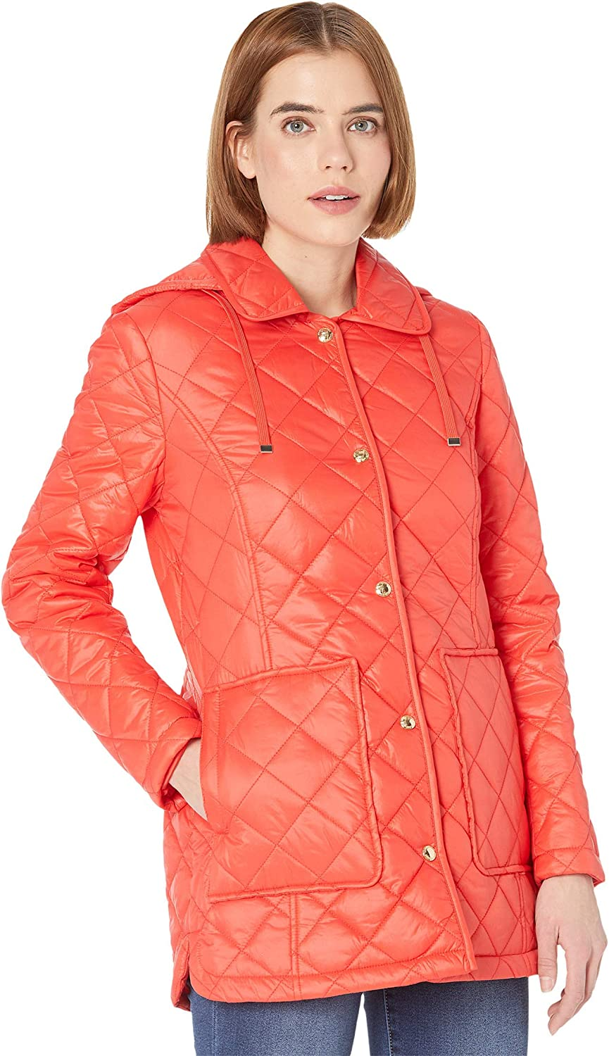 Sam Edelman Quilted Jacket with Detachable Hood