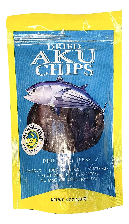 Hilo Hawaii Max 49% OFF Dried Super special price Wild Tuna Skipjack Chips Aku