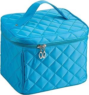 EN'DA big size nylon Cosmetic bag with quality zipper single layer travel Makeup bags (Blue)