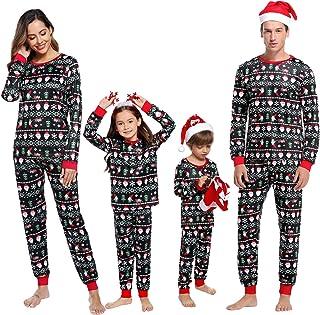 Hawiton Pijamas Navidad para Familias Pijama Mujer Hombre Ni/ños Ni/ña Invierno de Manga Larga Pijama Hombre Navidad Ropa de Dormir para Mam/á Pap/á Ni/ños