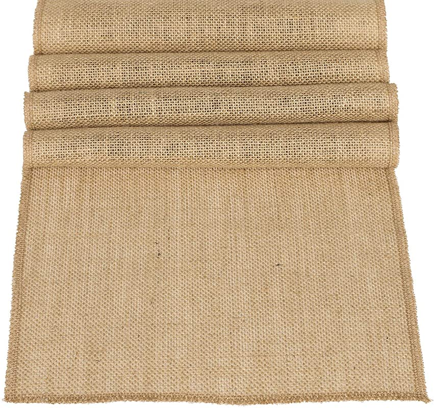 Ling S Moment 12 X 108 Inches Jute Farmhouse Table Runner Burlap Table Decor Bamboo For Fall Autumn Rustic Wedding Decorations Woodland Baby Shower Country Kitchen Boho Out Table Decor
