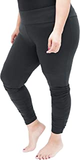 Oh So Soft High Waist Stretch Leggings with Ruched Ankle Detail, Tummy Control, Lightweight and Durable, for Plus Size Women