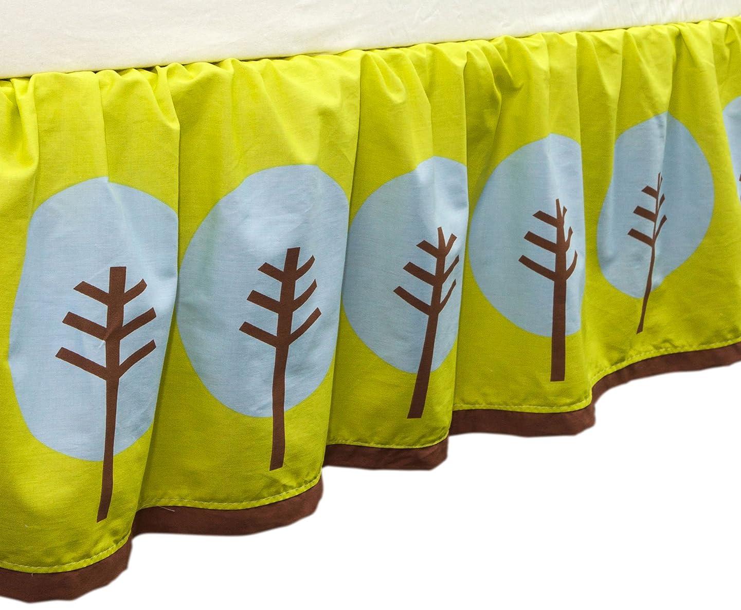 Tree Tops Tree Print Crib Dust Ruffle by True Baby