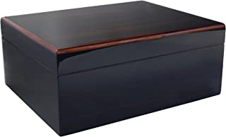 Savoy by Ashton Medium Humidor in Macassar, 50 Cigar Capacity