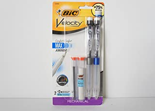 BIC 1595109 Velocity Mechanical Pencils 0.5 mm Tip - Pack of 2