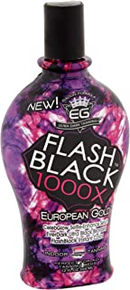 European Gold Flash Black 1000X Indoor Tanning Lotion 12 oz