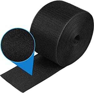 1 Piece (24 Feet in Length) Black Cable Floor Strip Carpet Floor Cord Cover Cable Protector Cable Management, Protect Cords and Prevent a Trip Hazard