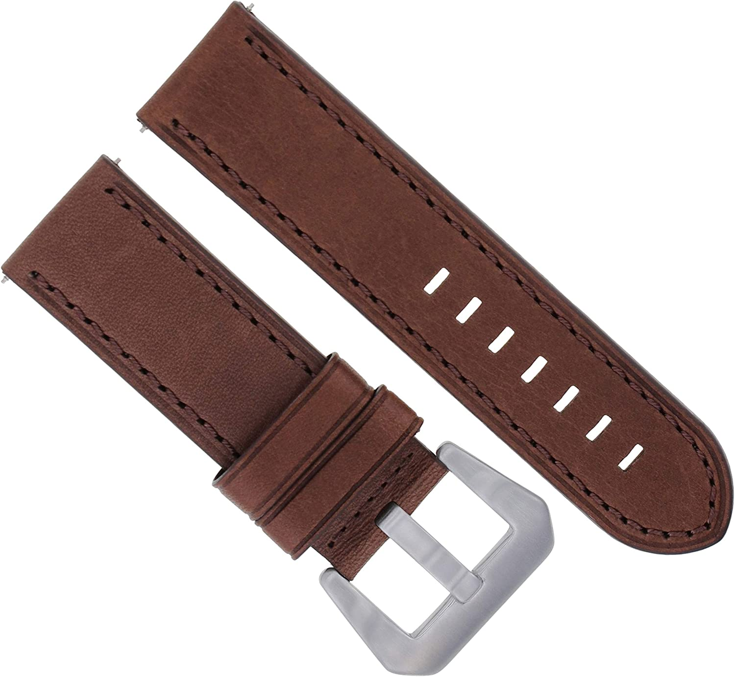 Fixed price Max 51% OFF for sale 22mm Leather Watch Band Strap Compatible 111 15 with 119 Panerai