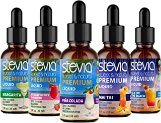 Sponsored Ad - Stevia Intl Best Selling (5 Pack ) | #1 Favorite Cocktails Bundle | Premium Stevia drops | 5 Flavors in Hig...