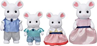 Calico Critters, Marshmallow Mouse Family, Dolls, Dollhouse Figures, Collectible Toys, 3 inches (CC1802)