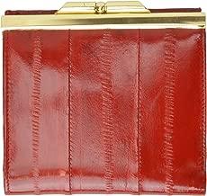 Genuine Eel Skin Soft Leather French frame Design Wallet by Marshal