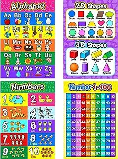 Educational Preschool Poster for Toddler and Kid with Glue Point Dot for Nursery Homeschool Kindergarten Classroom - Teach...