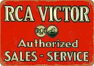 Mariner RCA Victor Sales & Service Aluminum Funny Aluminum Funny Art Decor Movie Poster Vintage Tin Sign Dorm Game Room 12 X 8 in