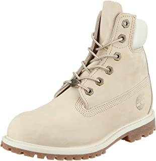 Timberland Womens 6 Inch Premium Boots in Off White.