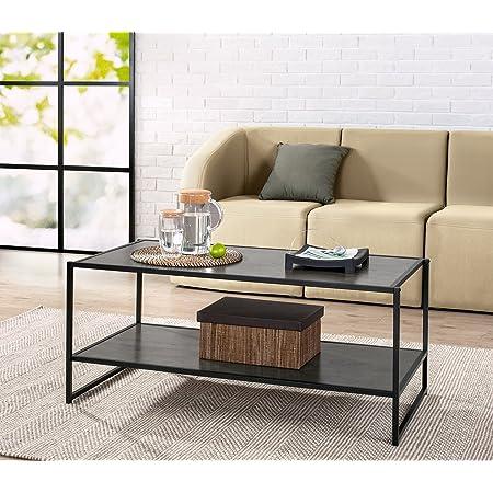 Amazon Com Zinus Troy Modern Studio Collection Deluxe Rectangular Coffee Table Espresso Furniture Decor
