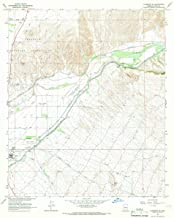 1965 Florence, AZ - USGS Historical Topographic Map - Cartography Wall Art - 44in x 55in