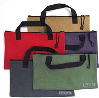 Canvas Tool Bags with Handles - 5 Pack - Heavy Duty 20 Oz. Canvas Multi Purpose Bag - Tool Organizer