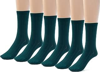 Silky Toes 3 or 6 Pairs Womens Bamboo Ribbed Dress Socks, Casual Basic Socks …