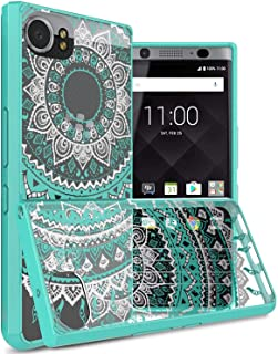 BlackBerry KEYone Case Cover, CoverON, Hard Back Panel, Teal Bumper