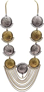 Zephyrr Afghani/Turkish Long Pendant Necklace Silver/Gold Tone Casual Daily Wear Statement Jewelry for Women JAN-1756