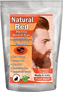 1 Pack of Natural Red Henna Beard Dye for Men - 100% Natural & Chemical Free Dye for Hair, Beard & Mustache - The Henna Guys