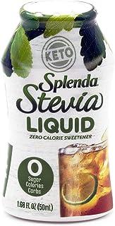 SPLENDA STEVIA LIQUID, Zero Calorie Sweetener Drops, 1.68 Ounce Bottle (Pack of 1), 1.68 Fl Oz (Pack of 1)