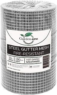 Garden Now Steel Gutter Mesh, Hot Dipped Galvanised, 190 mm Height x 10 m Length, Silver