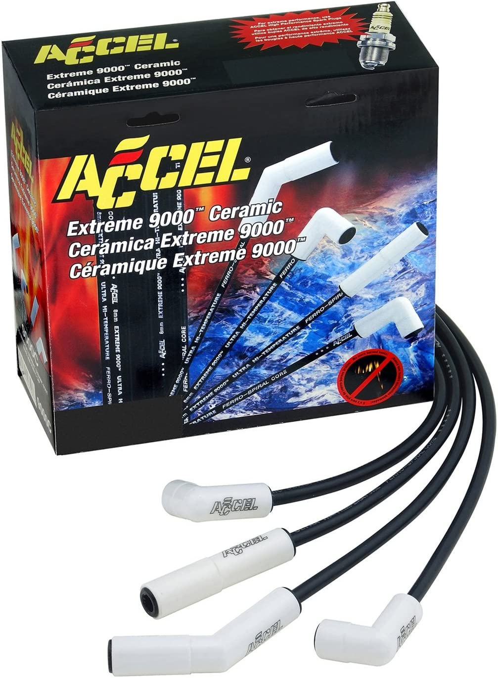 ACCEL 9065C Ceramic Spark Plug Wire Truck Kansas City Mall GM gift for Set 01-04