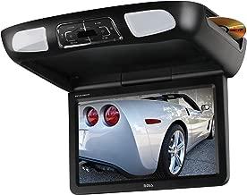 BOSS Audio Systems BV12.1MCH 12.1 Inch Flip-Down Car Monitor - DVD, CD, MP3, USB, SD, FM Transmitter, Black Grey Tan Interchangeable Housings, 2 Dual-Channel Wireless Headphones, Wireless Remote