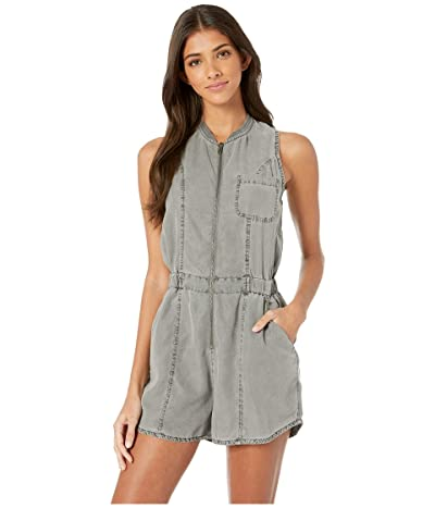 RVCA Hitched Romper (Grey Mist) Women