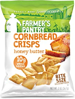 Farmer's Pantry Bulk Pack Honey Butter Cornbread Crisps, Honey Butter, 2 Ounce (Pack of 24)
