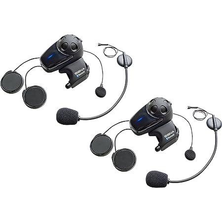 Smh10 Bluetooth Kommunikationssystem Für Motorräder Mit Kabel Und Schwanenhalsmikrofon Doppelpack Auto