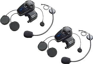 Sena SMH10D-11 Auricular Bluetooth e intercomunicador para motos con kit micrófono universal, paquete doble, 2 piezas