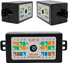 I-CHOOSE LIMITED Acoplador Extensor de Red RJ45 Cat6 Negro para Cables Ethernet LAN