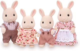 Calico Critters, Sweetpea Rabbit Family, Dolls, Dollhouse Figures, Collectible Toys, 3 inches