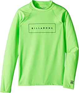Billabong Kids All Day United Performance Fit Long Sleeve Rashguard (Toddler/Little Kids/Big Kids)