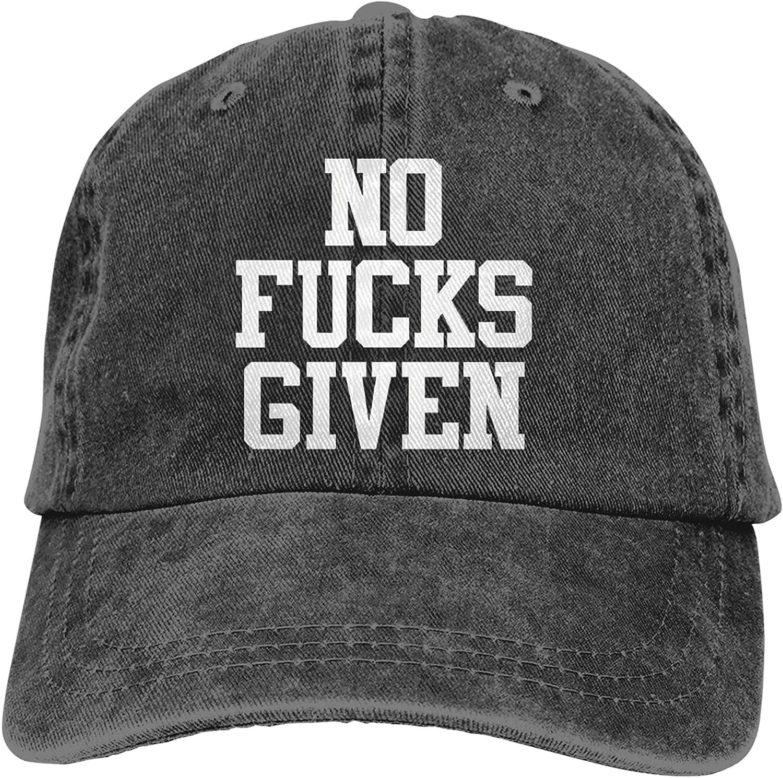No Fuck Given Hat for Women Men Summer Fashion Adjustable Trucker Hats Baseball Cap Black