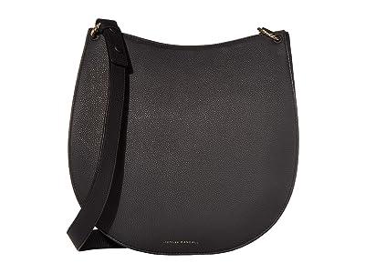 Loeffler Randall Caroline Twisted Ring Leather Hobo (Black 2) Handbags