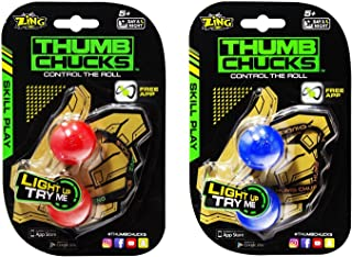 Thumb Chucks Red and Blue 2-Pack Bundle - Skill Play by Zing - Control the Roll Game