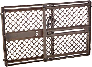 """North States 42"""" Wide Supergate Ergo Baby Gate: Includes sockets for Extra Holding Power. Hardware or Pressure Mount. Fits 26""""-42"""" Wide (26"""" Tall, Espresso)"""