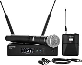 Shure QLXD124/85 Handheld and Lavalier Combo Wireless Microphone System with WL185 and SM58, H50