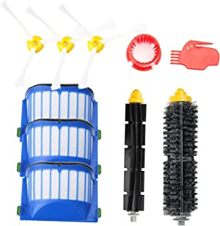 efluky Replacement Accessories Kit for Roomba 600 Series 600 620 630 650 655 660 680- Includes 3 Pack Filter and Side Brush, 1 Pack Bristle Brush and Flexible Beater Brush, 2 Pack Cleaning Tool